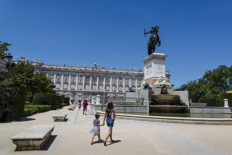 Plaza de Oriente, Madrid, Spagna fotografia stock libera da diritti