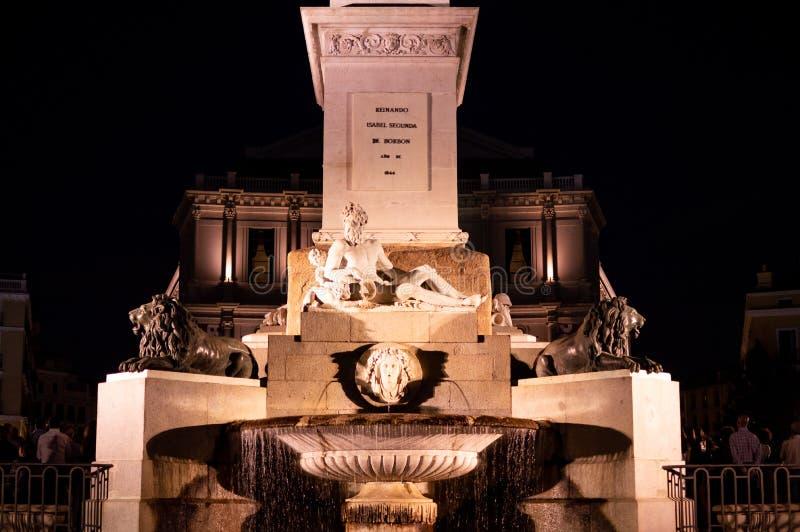 Plaza de Oriente y SU Fuente fotos de stock