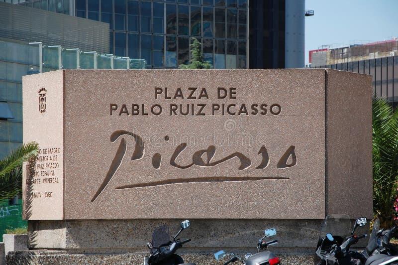 Plaza de Pablo Ruiz Picasso foto de archivo libre de regalías