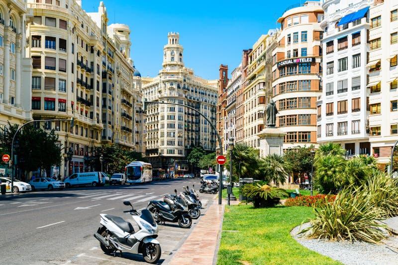 Plaza de Plaza del Ayuntamiento Modernisme ayuntamiento de Valencia en Valencia fotografía de archivo