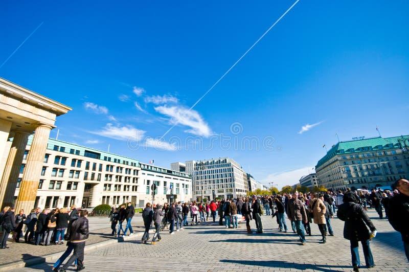 Plaza de Porte de Brandebourg, Berlin images stock