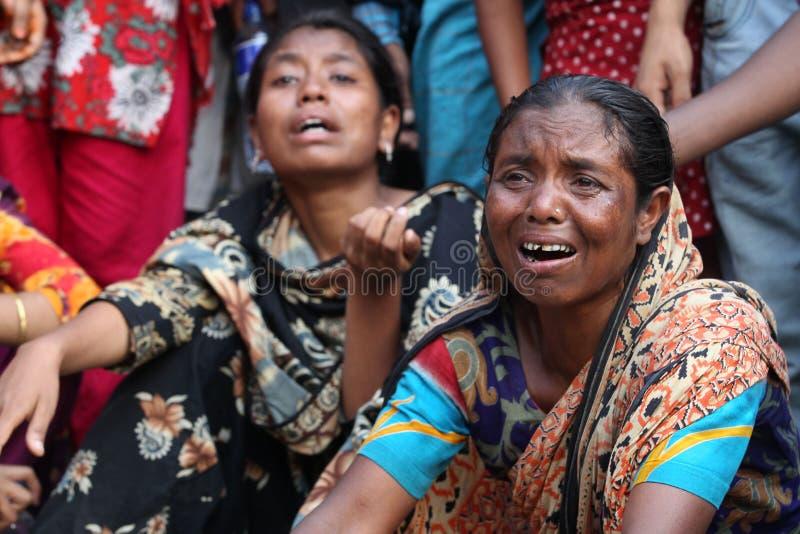 Plaza de Rana das consequências em Bangladesh (foto do arquivo) foto de stock royalty free
