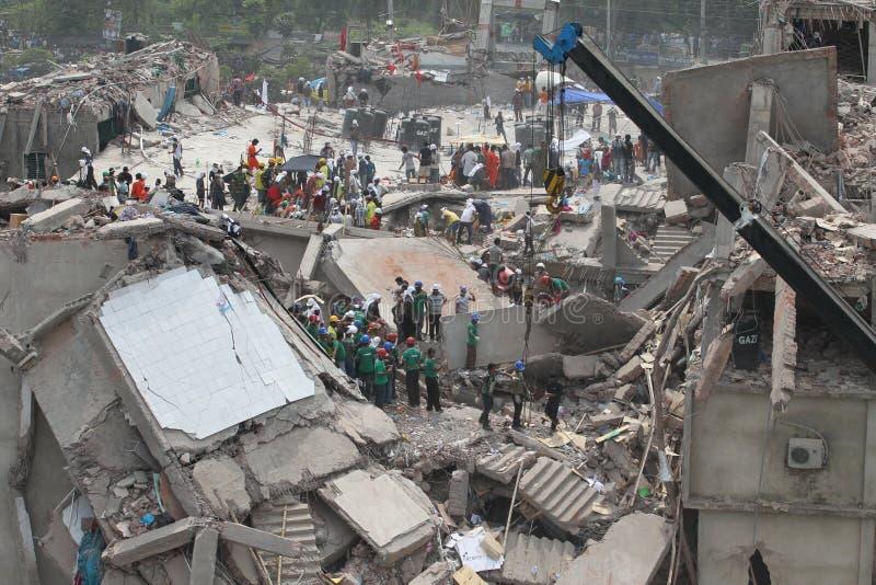 Plaza de Rana das consequências em Bangladesh (foto do arquivo) fotografia de stock royalty free