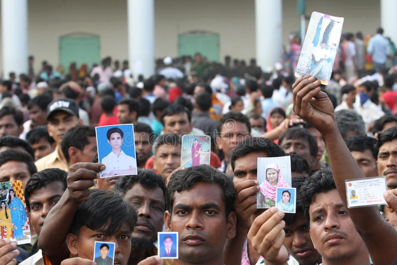 Plaza de Rana de conséquence au Bangladesh (photo de dossier) images stock