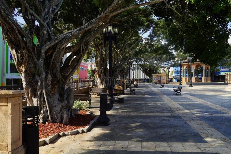 Plaza De Recreo, Arecibo, Puerto Rico.  stock images