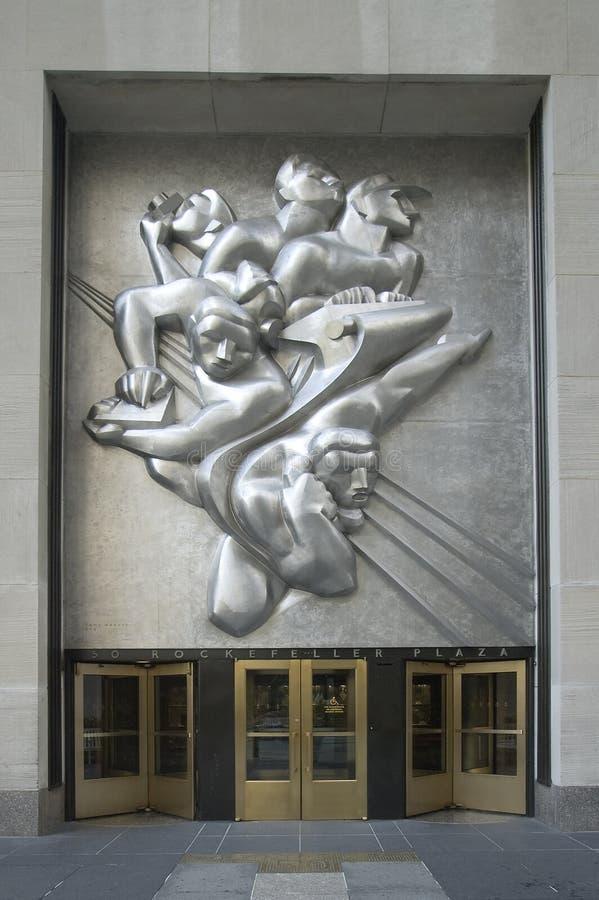 Plaza de Rockefeller foto de stock