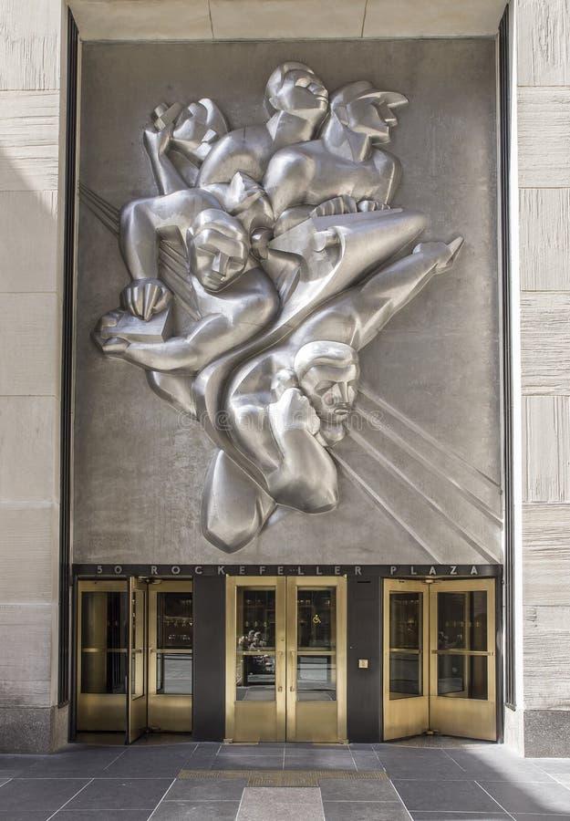 Plaza de Rockefeller imagens de stock