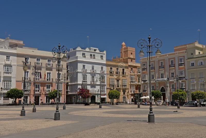 Plaza de San Antonio en Cádiz fotos de archivo libres de regalías