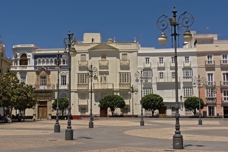 Plaza de San Antonio i Cadiz arkivfoto