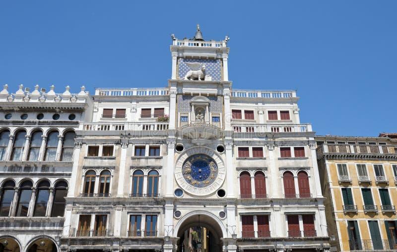 Plaza de San Marcos del reloj del zodiaco imagen de archivo libre de regalías
