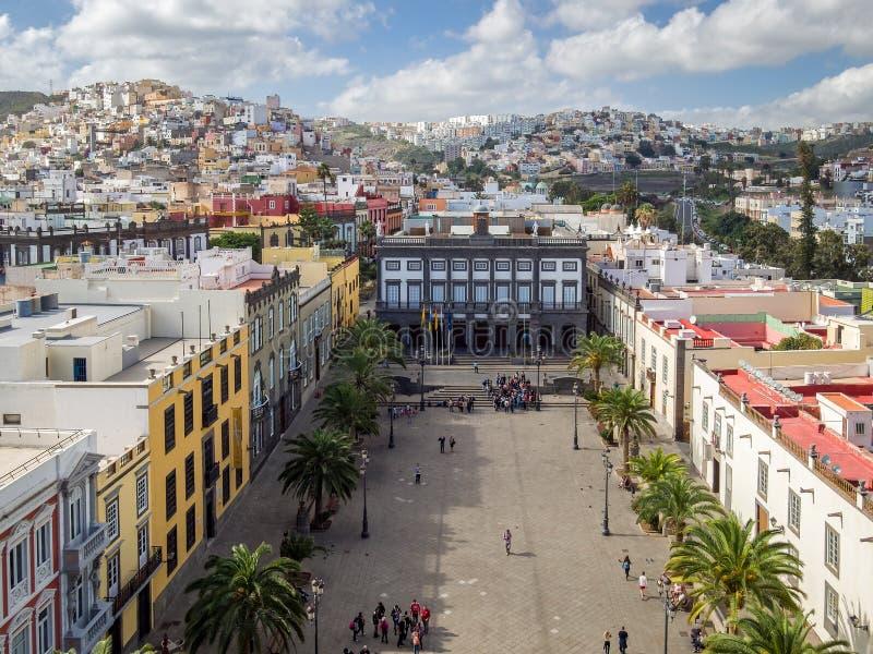 Plaza de Santa Ana en Las Palmas de Gran Canaria España fotografía de archivo libre de regalías