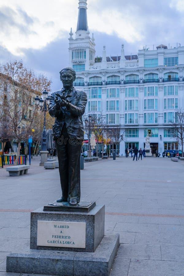 Plaza de Santa Ana, i Madrid arkivbilder