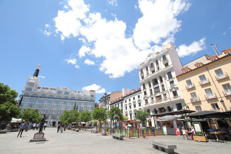 Plaza de Santa Ana square outdoor restaurant Madrid Spain royalty free stock photos