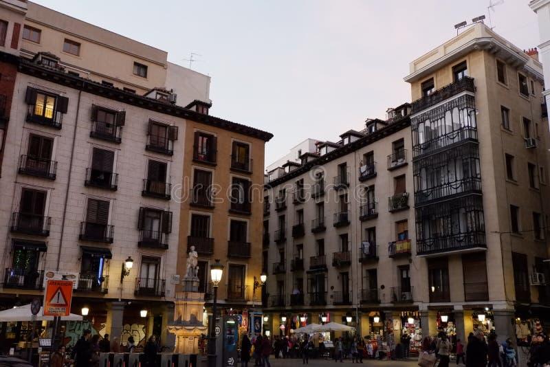 Plaza de Santa Cruz, Madrid Spanien arkivbild