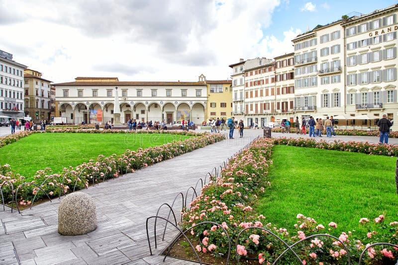 Plaza de Santa Maria Novella, Florencia imágenes de archivo libres de regalías