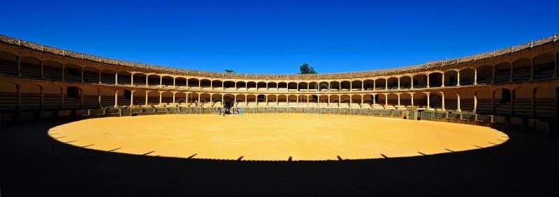 Plaza de Toros,朗达,西班牙 库存图片