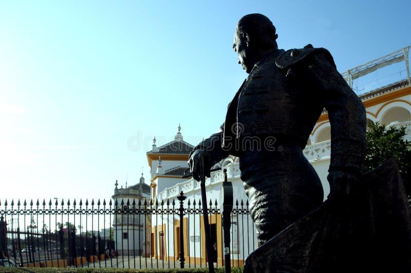 Plaza de Toros - anello del Bull in Siviglia immagine stock