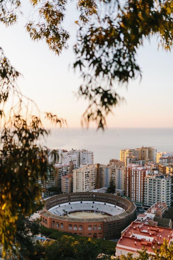 Plaza DE Toros/arena in Malaga stock foto