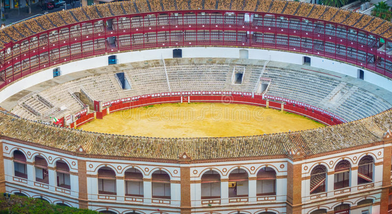 Plaza de toros de La Malagueta. The Plaza de toros de La Malagueta is a bull fighting arena of Malaga, Spain. It was built in 1876 and is one of the most royalty free stock photos