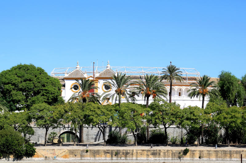 Plaza de Toros de la Real Maestranza, Seville. The 18th century Plaza de Toros de la Real Maestranza, one of the most popular venues in Spain for watching royalty free stock photos
