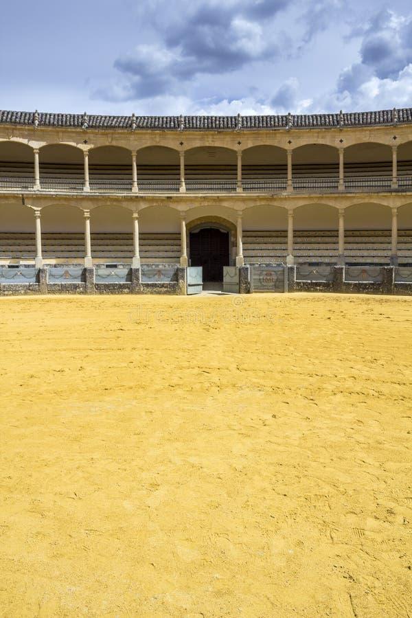 Plaza de toros de Ronda, the oldest bullfighting ring in Spain. The Plaza de toros de Ronda, the oldest bullfighting ring in Spain. Built in 1784 in Neoclassical royalty free stock photos