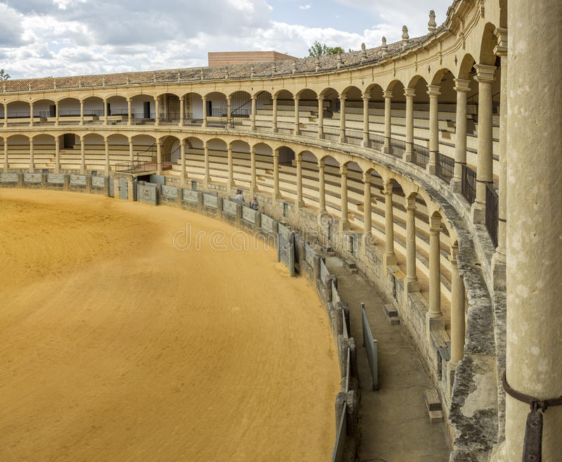 Plaza de toros de Ronda, the oldest bullfighting ring in Spain. The Plaza de toros de Ronda, the oldest bullfighting ring in Spain. Built in 1784 in Neoclassical stock photo