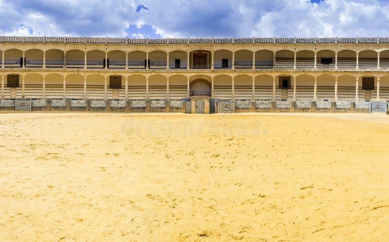 Plaza de toros de Ronda, the oldest bullfighting ring in Spain. The Plaza de toros de Ronda, the oldest bullfighting ring in Spain. Built in 1784 in Neoclassical stock images