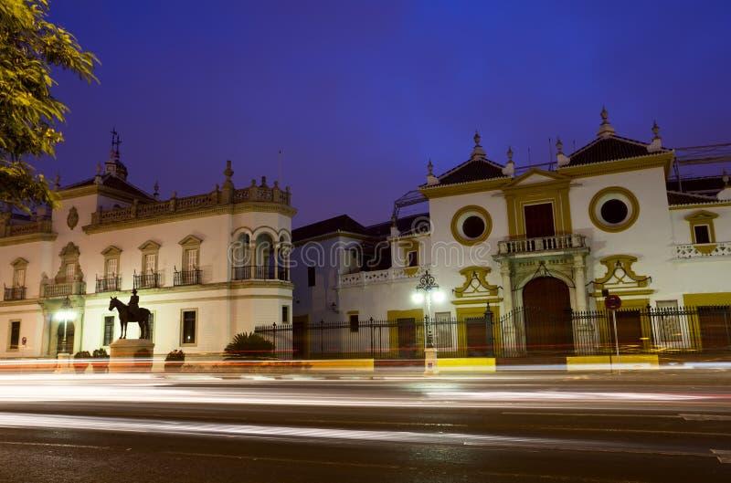 Plaza de Toros em Sevilha imagens de stock