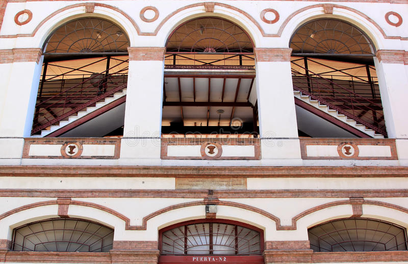 Plaza de Toros La Malagueta, Malaga, a Andaluzia fotos de stock royalty free