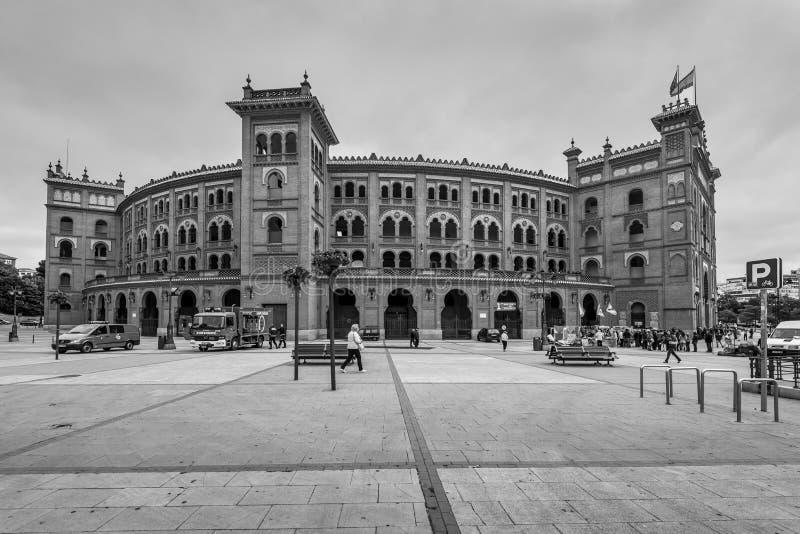 Plaza De Toros Las Ventas en el tiempo nublado, Madrid, España fotos de archivo