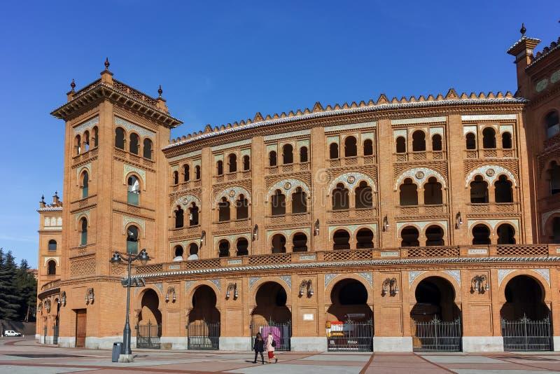 Plaza de toros de Las Ventas en la ciudad de Madrid, España fotografía de archivo libre de regalías