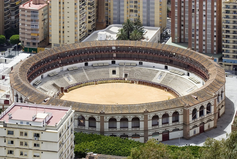 Plaza de Toros, Màlaga stockfotografie