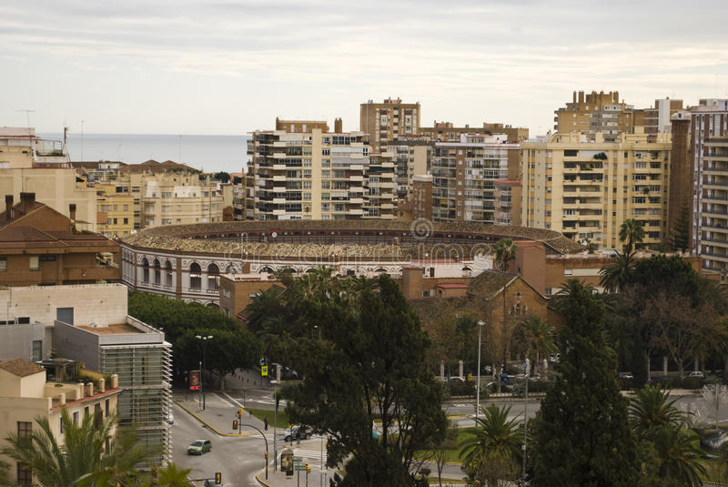 Plaza de Toros, Malaga. The Plaza de Toros (bullring) in Malaga, Spain stock images