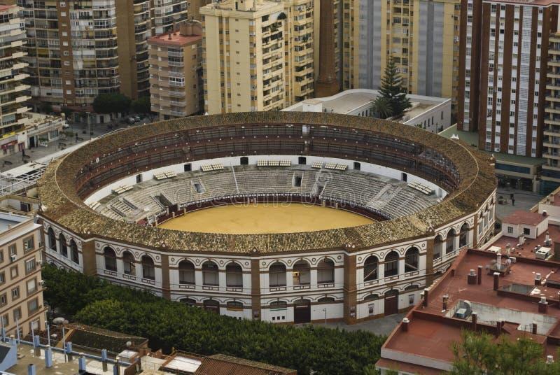 Plaza de Toros, Malaga. The Plaza de Toros (bullring) in Malaga, Spain stock photography