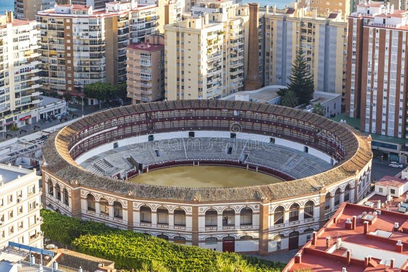 Plaza de Toros de Malagueta bullring in Malaga, Andalusia, Spain. Plaza de Toros de Malagueta bullring in Malaga city, Andalusia, Spain. The style of building is stock photography