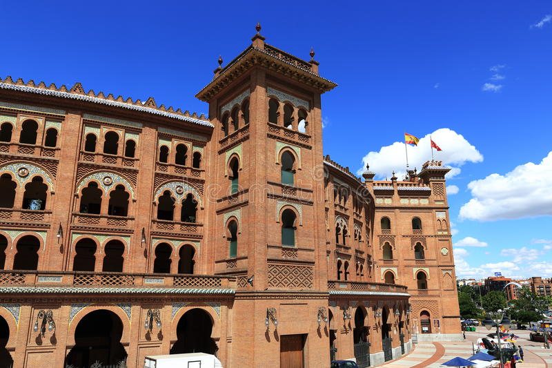 Plaza de Toros Monumental, the old building, Madrid, Spain. A Picture of the Plaza de Toros Monumental, the old building, Madrid, Spain royalty free stock photography