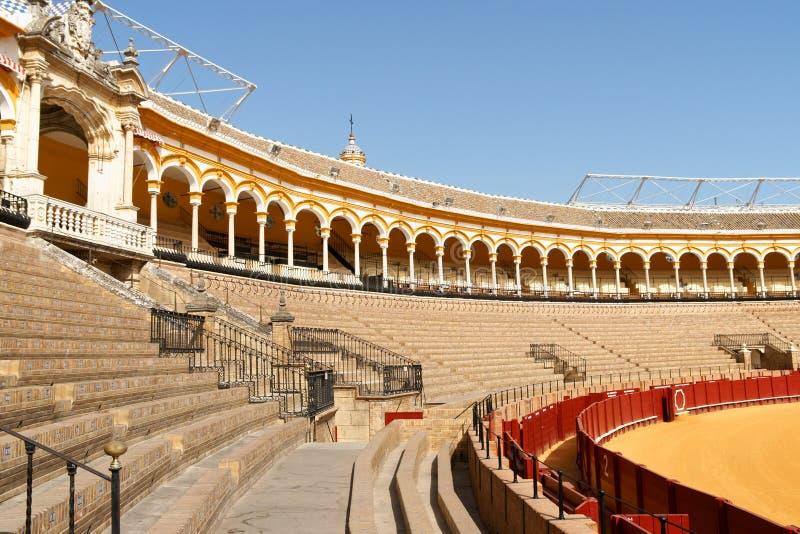 Plaza de Toros in Sevilla, Spanien lizenzfreie stockbilder