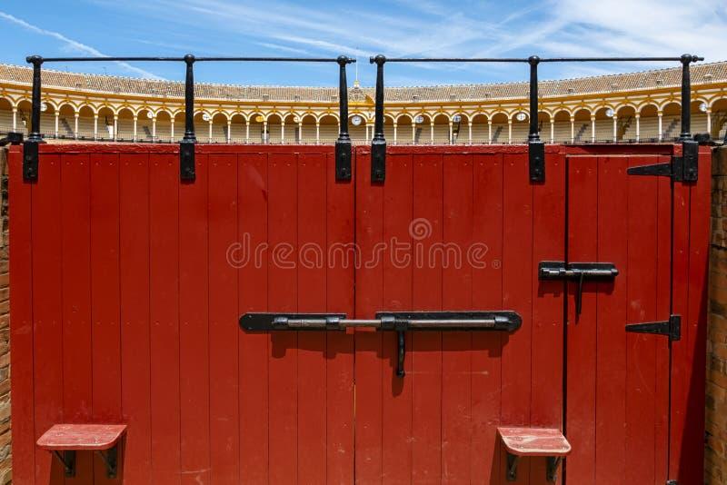 Plaza de Toros in Seville stock photos