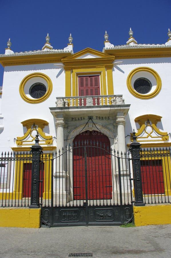 Plaza de Torros, είσοδος, Σεβίλη στοκ εικόνα