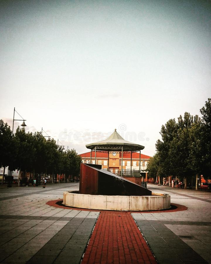 Plaza Del Ayuntamiento lizenzfreie stockfotografie