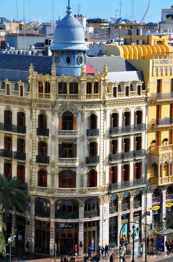 Plaza del Ayuntamiento, Valencia imagen de archivo libre de regalías