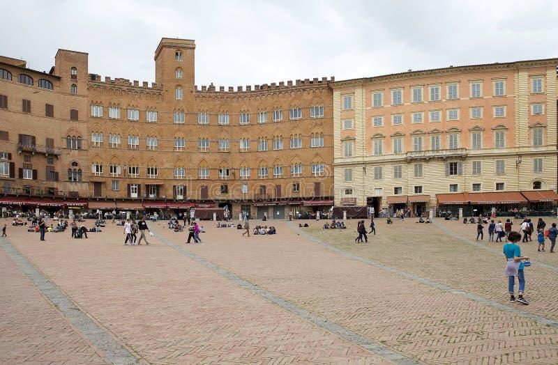 Plaza del campo, Siena, Toscana, Italia foto de archivo