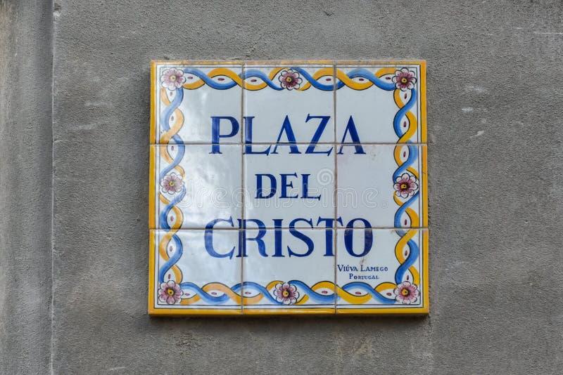 Plaza del Cristo Cristo Vierkant stock afbeelding