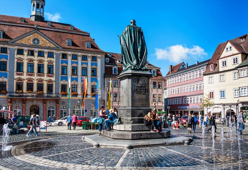 Plaza del mercado en Coburgo, Alemania foto de archivo