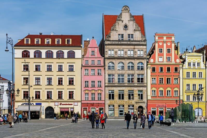 Plaza del mercado principal del siglo XIII, imagen de archivo