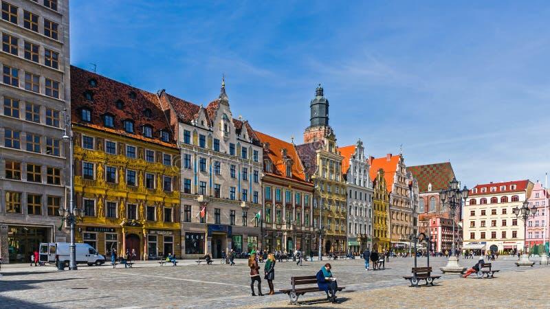 Plaza del mercado principal del siglo XIII, fotografía de archivo