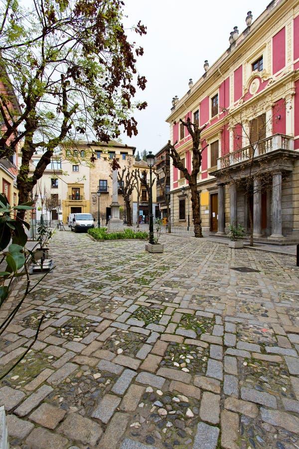 Plaza del Padre Suarez in Granada. Andalusia, Spain royalty free stock photo