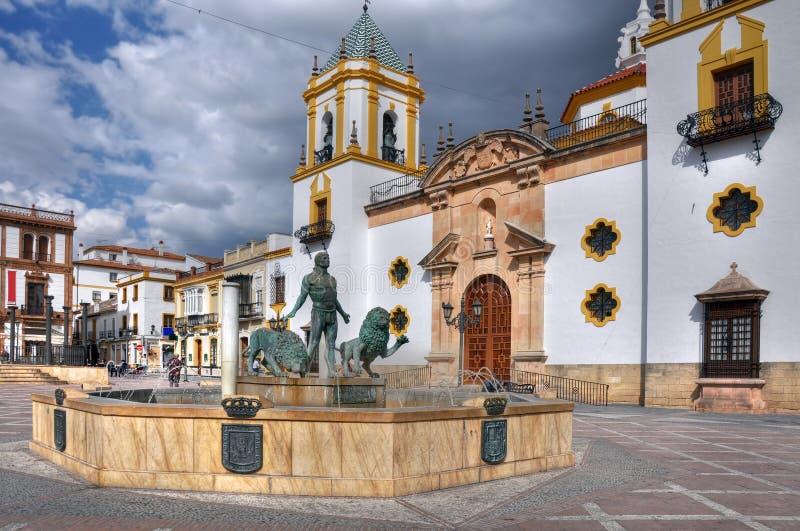 Plaza del Socorro, Ronda, Andalousie, Espagne images libres de droits