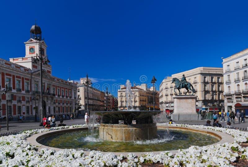 Plaza del solenoide en Madrid España imagen de archivo