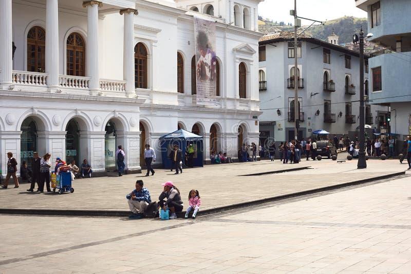 Plaza del Teatro en Quito, Ecuador imagen de archivo